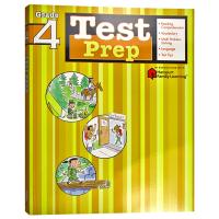 Flash Kids预测卷四年级 英文原版 Test Prep Grade 4 美国小学生英语教辅教材 哈考特家庭练习册