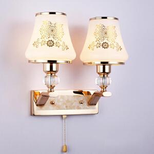 壁灯 金色水晶LED创意宜家过道楼梯高品质现代简约卧室书房床头灯 创意灯具