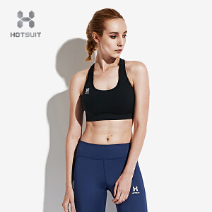 美国HOTSUIT运动文胸女2018新款健身内衣一体式瑜伽美背运动bra6702012