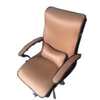 冬季办公室座椅垫电脑椅坐垫套带靠背四季通用老板椅冰丝连体靠垫