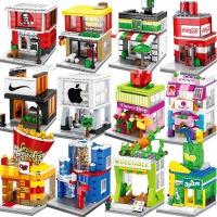 兼容乐高街景积木儿童益智玩具男孩智力动脑拼装城市系列房子模型