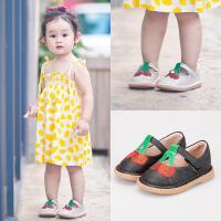 女宝宝鞋公主鞋春秋学步鞋软底婴儿叫叫鞋0-1-2-3岁