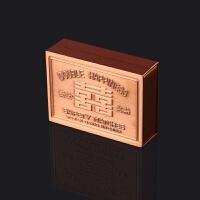 火柴盒 精典金属怀旧古铜老式火柴盒礼品盒童年玩具打火机收藏火柴盒 红铜色金属HC盒一个 送一大片擦皮纸