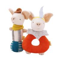 童话摇铃套装生肖猪年宝宝安抚毛绒布艺玩具婴儿手抓玩偶