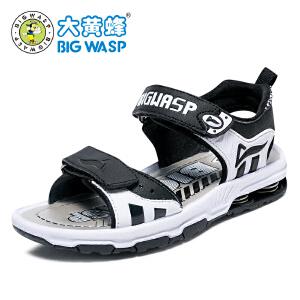 大黄蜂男童凉鞋夏季2017新款儿童沙滩鞋