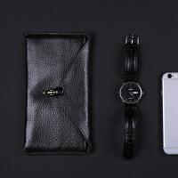新款韩版长款男女士钱包 牛皮卡位皮夹手机钱夹多卡位零钱包 黑色 关注店铺-*品