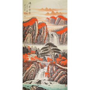 北京美术家新锐联盟一级画师  健松 《鸿运当头》69*138cm