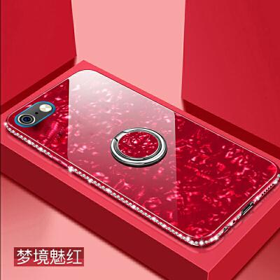 苹果6s手机壳iphone6保护套4.7寸边框镶钻a1586玻璃壳ihone6s软边a1700贝壳纹