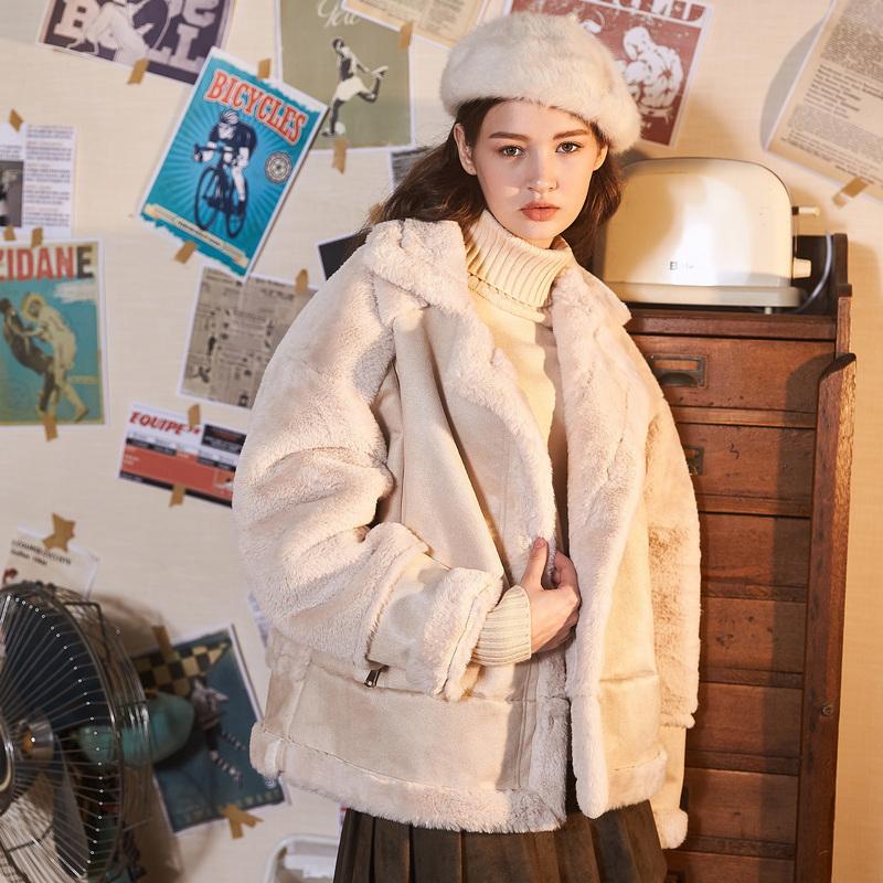 [2.5折价207.3元,】唐狮年冬装新款棉衣女机车款短款学生宽松加厚潮流外套 限时折扣