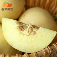 西域美�r �西�良甜瓜4.5~5斤小香瓜��季水果新�r�F摘�F�l