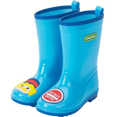 kocotree儿童雨鞋雨靴男女童幼儿园宝宝防水雨鞋卡通可爱防滑水鞋夏季透气舒适 防滑防水
