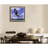 小幅雪山雄鹰展翅大展鸿图十字绣动物风景钻石画客厅餐厅卧室装饰