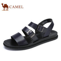 camel骆驼男鞋 夏季新品 日常时尚休闲牛皮凉鞋 清凉沙滩凉鞋