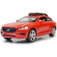 嘉业仿真合金车模 沃尔沃XC汽车模型回力声光4开门儿童玩具车