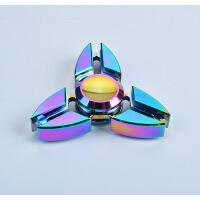 七彩指尖陀螺 指间旋转铝合金炫彩EDC减压 三角螃蟹 三叶爱心指尖陀螺