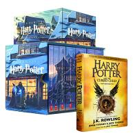 美国版全套 Harry Potter 1-7全集 + 哈利波特8剧本 赠魔杖笔 哈利波特英文原版小说英文版  哈利波特与被诅咒的孩子 JK罗琳