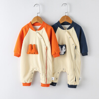 宝宝秋季爬爬服长袖新生儿哈衣婴儿连体衣服