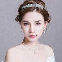 新娘头饰结婚皇冠超仙仿天鹅婚礼婚纱礼服发饰套装
