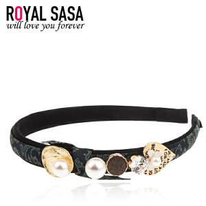 皇家莎莎RoyalSaSa韩版细发箍头箍韩国水钻简约甜美发卡压发头饰发饰发带饰品HFS509407
