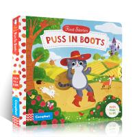进口英文原版绘本First Stories:Puss in Boots 穿靴子的猫 儿童启蒙阅童话故事机关操作纸板书