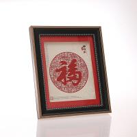 中国风剪纸画镜框装裱工艺摆件 陕西特色礼品送老外 外事出国礼物