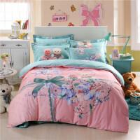 御目 四件套 卡通夏季全棉床单被罩被套枕套儿童床品4件套学生宿舍纯棉三件套家居床上用品套件