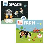 【中商原版】All About Space+Farm绘本2册 英文原版 精装 翻翻书 儿童认知识物 3-6岁