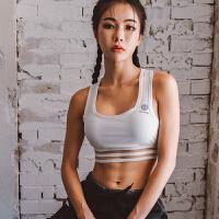 2018新款性感运动文胸女无钢圈防震收副乳聚拢定型跑步背心式舞蹈健身内衣