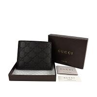 Gucci 双G压花男士短款对折钱夹
