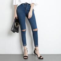 女士凉鞋2019新款一字扣高跟鞋5cm细跟中跟露趾夏季性感女鞋百搭夏季百搭鞋