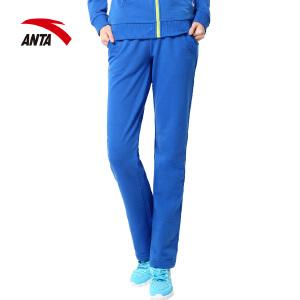 安踏运动裤女装秋季2017新款女子针织运动长裤休闲宽松卫裤跑步裤