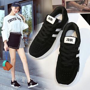 ZHR2017秋季新款韩版透气运动鞋女百搭跑步鞋单鞋平底学生休闲鞋M196