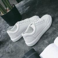 新款基础小白鞋女百搭韩版学生平底帆布女鞋白色休闲港风板鞋 白