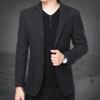 2018新款秋季中年男士西装薄款休闲西服男外套小西装男修身单西