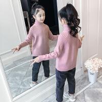 女童针织衫秋冬高领打底上衣冬装儿童毛衣