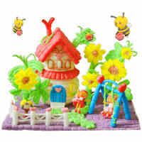 四喜人魔法手工DIY玉米玩具3200粒 儿童创意益智亲子手工制作玩具