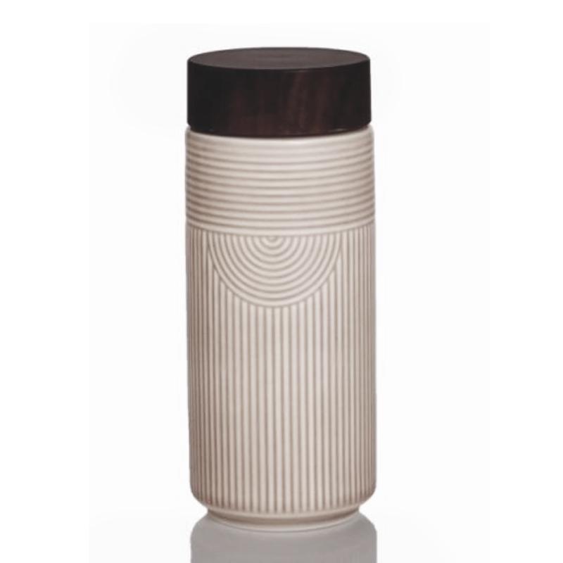 新品乾唐轩活瓷杯心之所向随身杯双层350ml创意陶瓷随手杯水杯子
