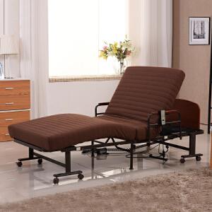 未蓝生活家用电动折叠床遥控升降老人病人休闲护理床 床垫宽90cm厚12cm VLE09C