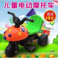 儿童电动车 摩托车 电动三轮车 小孩宝宝可坐玩具车 男女甲壳虫电瓶车