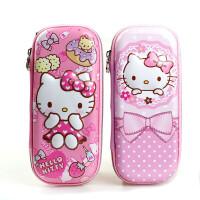 包邮HelloKitty儿童笔袋KT猫女童小学生文具盒笔盒多功能大容量铅笔袋
