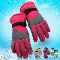 女士冬季骑行自行车电瓶车骑车用加厚棉保暖防风防水防滑滑雪手套