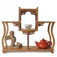 鸡翅木雕博古架紫砂壶花瓶古玩红木底座 红木家具奇石底座茶壶架