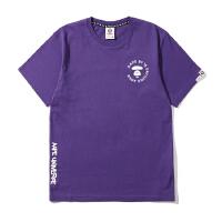 Aape男装春夏反光字母涂鸦喷绘猿颜印花短袖T恤2994XXA