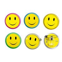 装得快 微笑胸牌 胸卡 笑脸胸徽 圆形为您服务 RK06 45mm
