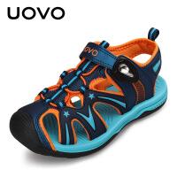 【下单立减100】UOVO夏季新款儿童凉鞋男童夏季透气 中大童包脚沙滩鞋防滑软底运动鞋 歌瑞尔