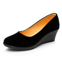 老北京布鞋女鞋平底单鞋浅口工作鞋女黑色跳舞女鞋软底妈妈鞋