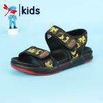 【1件2折后:59元】红蜻蜓新款夏季凉鞋男童个性印花撞色舒适露趾透气中大童儿童凉鞋