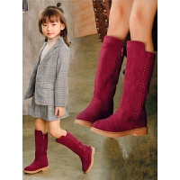 童鞋靴子过膝长筒儿童高筒靴春秋公主单靴女童鞋长靴