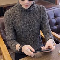 黑色高领打底衫男长袖套头冬季2018新款修身加厚潮流韩版百搭线衣