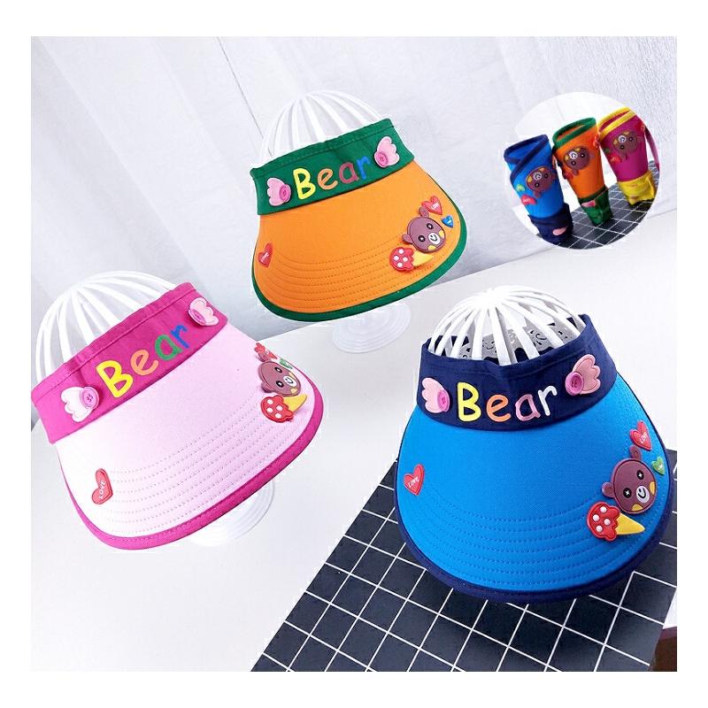 儿童帽子男童夏季女童太阳帽宝宝防晒帽遮阳帽空顶帽大檐潮可折叠
